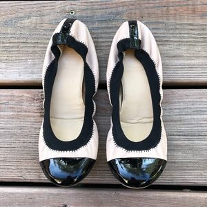 J.CREW Mila Cap Toe Leather Ballet Flats~Size 7